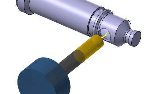 mastercam-turn-C軸鑽孔加工